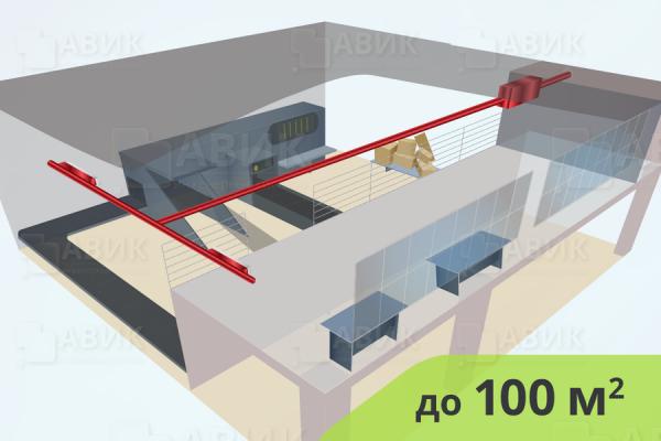 Приточная вентиляция промышленных объектов 100 м2