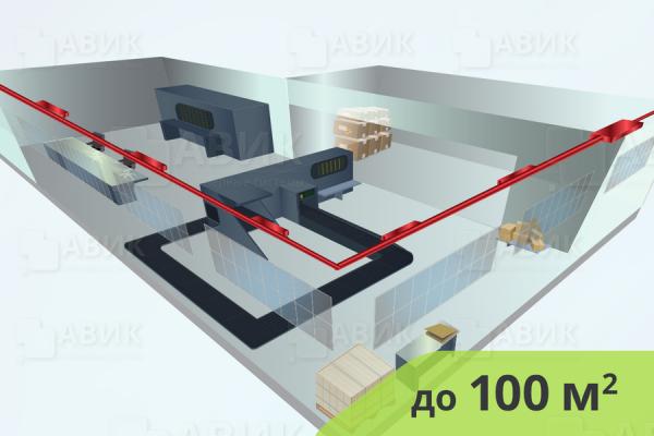 Приточная вентиляция на производстве 100 м2