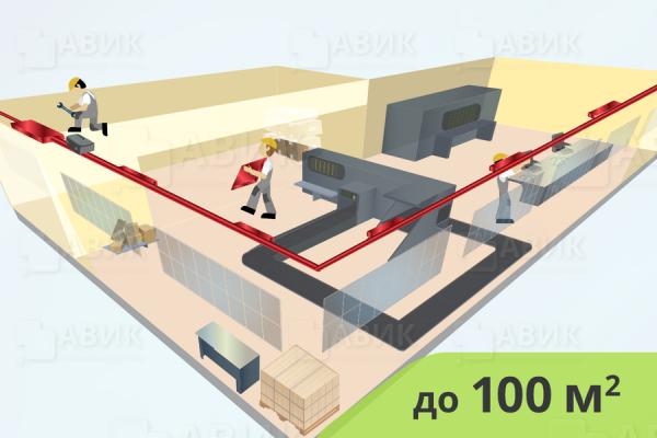 Монтаж приточной вентиляции пищевой промышленности до 100 м2
